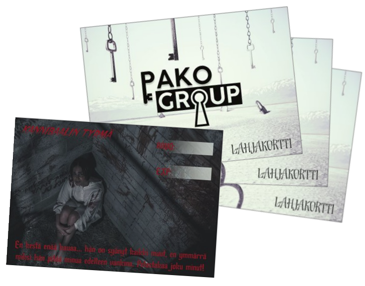 Pako Group lahjakortti pakohuoneelle