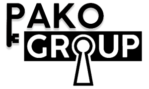 Pako Group Oy:n virallinen logo, pakohuone Lahti